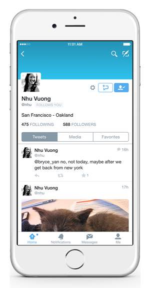 Twitter direct messaging change on the App